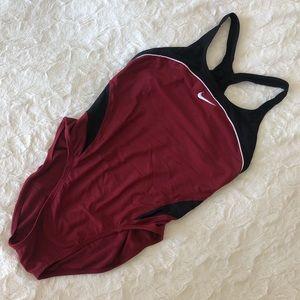 Maroon & Black NIKE Swimsuit
